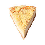 Piece of curd pie Stock Images