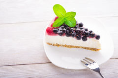 Piece of currant cake Royalty Free Stock Photos
