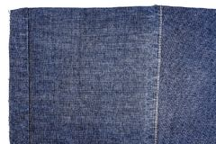 Piece of dark blue jeans fabric Royalty Free Stock Image