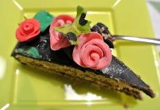a piece of decorated cake Stock Photos