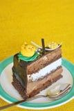 Piece of delicious cake Stock Photos