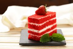Piece of delicious cake Royalty Free Stock Images