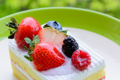 Piece of delicious cake Stock Images