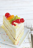Piece of delicious cake Royalty Free Stock Photography