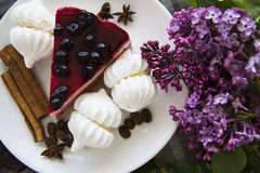 Piece of delicious cheesecake 21 Stock Photography