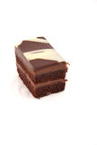 Piece of delicious chocolate layer cake Royalty Free Stock Image