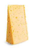 Piece of delicious yellow cheese Royalty Free Stock Image