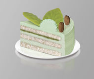Piece Dessert mint Stock Image