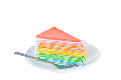 Piece of dilicious cake,Isolated on white background Royalty Free Stock Photo