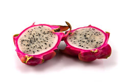Piece of dragon fruit. Two piece of dragon fruit Stock Photography
