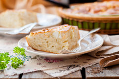 A Piece of Easy Cabbage, Egg and Cumin Pie Royalty Free Stock Photography