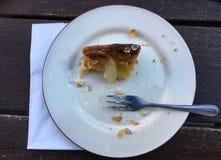 Piece of almost eaten apple pie Stock Photography