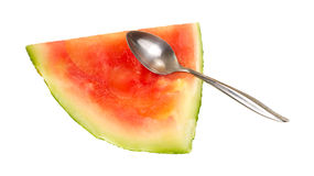 Piece of eaten watermelon Royalty Free Stock Photography
