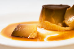 A piece of egg custard Royalty Free Stock Images