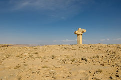 Piece of environmental  art in desert Royalty Free Stock Images