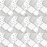 Piece of fabric. With decoration pattern Vector Illustration