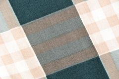 Fabric with a checked pattern Royalty Free Stock Photos