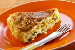 Piece of flaky pastry Stock Images