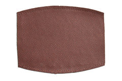 Piece of Football Leather Stock Image