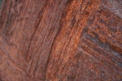 Rusty piece found on beach royalty free stock images