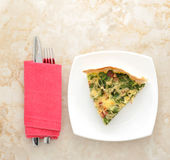 piece of French quiche pie. Royalty Free Stock Images