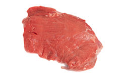 Piece of fresh meat isolated on a white Stock Image