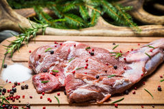 Piece of fresh meat ready for roasting Stock Photo