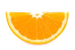 Piece of fresh orange fruit Stock Photography