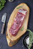 A piece of fresh raw beef Royalty Free Stock Images