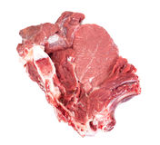 A Piece of Fresh Raw Beef, Veal Isolated on White Background Royalty Free Stock Photography