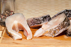 Piece of fresh raw fish Stock Photography