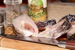 Piece of fresh raw fish Royalty Free Stock Image