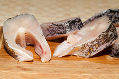 Piece of fresh raw fish. Royalty Free Stock Image