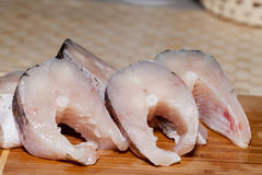 Piece of fresh raw fish. The healthy diet Stock Photo