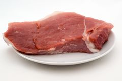 A piece of fresh raw meat Stock Photo
