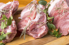 Piece of fresh raw meat. Piece of fresh raw meat on cutting board Stock Images