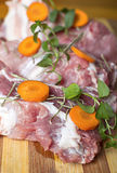 Piece of fresh raw meat. Royalty Free Stock Photos