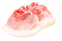 A Piece of Fresh Raw Pork, Meat Isolated on White Background. Studio Photo Royalty Free Stock Images