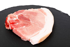A Piece of Fresh Raw Pork, Meat Isolated on White Background. Studio Photo Royalty Free Stock Photo