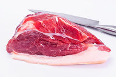 Piece of Fresh Raw Pork, Meat. A Piece of Fresh Raw Pork, Meat Studio Photo Stock Photos