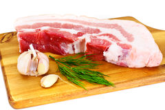 A Piece of Fresh Raw Pork, Meat. Studio Photo Royalty Free Stock Photography