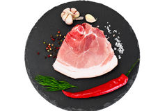 A Piece of Fresh Raw Pork, Meat. Studio Photo Stock Photography