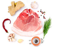 A Piece of Fresh Raw Pork, Meat. Studio Photo Royalty Free Stock Photo