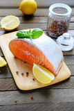 Piece of fresh salmon Royalty Free Stock Image