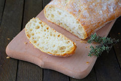 Piece of fresh wheat bread Royalty Free Stock Images