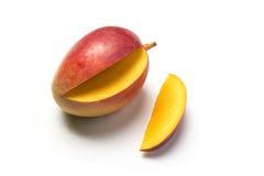 Piece of fruit. Called mango on white background Stock Images