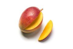 Piece of fruit. Called mango on white background Royalty Free Stock Photography