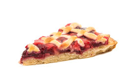 A piece of fruit pie. On a white background Stock Image