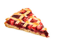 A piece of fruit pie. On a white background Royalty Free Stock Images