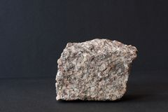 Granite mineral on black royalty free stock photo